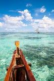 Paysage de mer sur le bateau en Guam Photographie stock