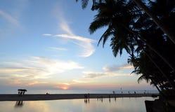 Paysage de mer sur le goa Photographie stock