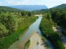 Paysage de Montañana, Huesca, Espagne Photos libres de droits