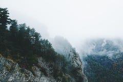Paysage de montagne à l'hiver en France Pyrénées photo libre de droits