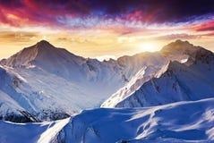 Paysage de montagne Photos libres de droits