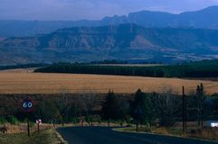 Paysage de montagne, Afrique du Sud. image libre de droits
