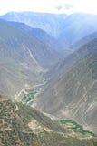 Paysage de montagne au Thibet, porcelaine Photo libre de droits