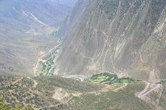 Paysage de montagne au Thibet, porcelaine Images libres de droits