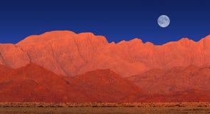 Paysage de montagne, désert de Namib image libre de droits