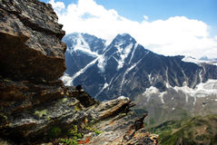 Paysage de montagne, beau fond de nature Photos stock