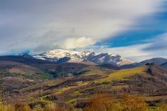 Paysage de montagne carpathienne La Roumanie, l'Europe Carpathien, Ukraine, l'Europe image libre de droits
