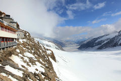 Paysage de montagne chez Jungfraujoch photographie stock libre de droits
