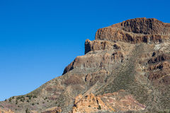 Paysage de montagne, ciel bleu d'espace libre Photos stock