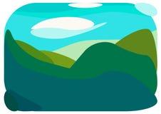 Paysage de montagne d'été de ressort Image libre de droits