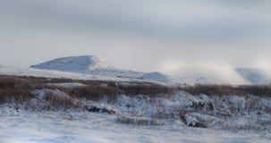 Paysage de montagne d'hiver Photo libre de droits