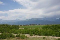 Paysage de montagne d'Oguz azerbaïdjanais Image libre de droits