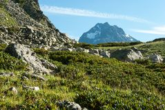 Paysage de montagne dans Arkhyz photographie stock
