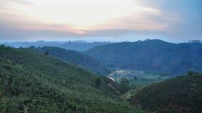 Paysage de montagne dans Dalat, Vietnam Images libres de droits