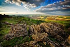 Paysage de montagne dans Dobrogea, Roumanie images stock