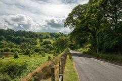 Paysage de montagne dans la vallée d'élan du Pays de Galles Images libres de droits