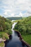 Paysage de montagne dans la vallée d'élan du Pays de Galles Photos libres de droits