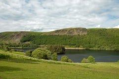 Paysage de montagne dans la vallée d'élan du Pays de Galles Image libre de droits