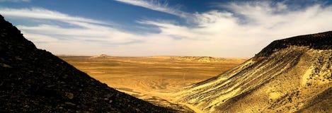 Paysage de montagne dans le désert noir, Egypte Image libre de droits