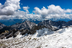 Paysage de montagne dans les Alpes bavarois photographie stock libre de droits