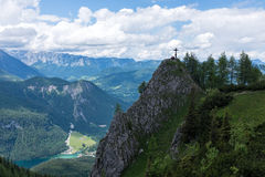 Paysage de montagne dans les Alpes bavarois photo libre de droits