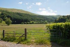 Paysage de montagne dans les balises de Brecon du Pays de Galles Images libres de droits