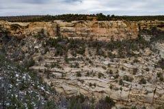 Paysage de montagne de désert de parc national de verde de MESA Images stock