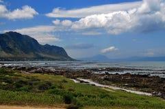 Paysage de montagne de mer Photographie stock