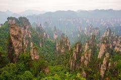 Paysage de montagne de parc national de Zhangjiajie Photographie stock libre de droits