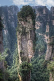 Paysage de montagne de parc national de Zhangjiajie, Chine Photos libres de droits