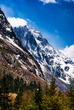Paysage de montagne de quatre filles Photographie stock