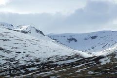 Paysage de montagne de volcan de Milou en Islande Images stock