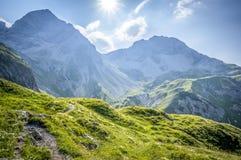 Paysage de montagne des Alpes d'Allgau Photographie stock