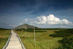 Paysage de montagne des montagnes de Karkonosze. Photo libre de droits