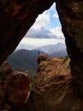 Paysage de montagne en île de Canaria de mamie, Îles Canaries images stock