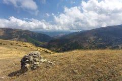 Paysage de montagne en Azerbaïdjan Photos stock