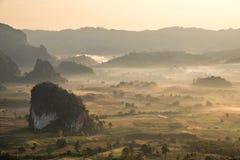 Paysage de montagne en ka de poumon de Phu, Phayao, Thaïlande photo stock