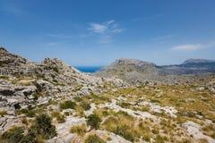 Paysage de montagne en Majorque Photo libre de droits