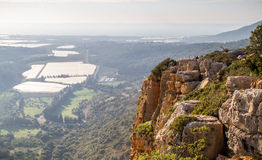 Paysage de montagne, Galilée supérieure en Israël Image libre de droits