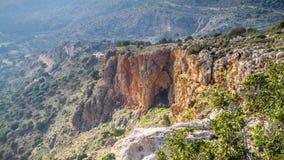 Paysage de montagne, Galilée supérieure en Israël Photos stock