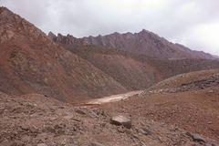 Paysage de montagne. Le toit du monde Photographie stock