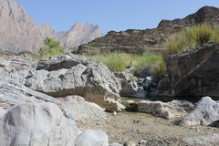 Paysage de montagne, Oman Photo stock