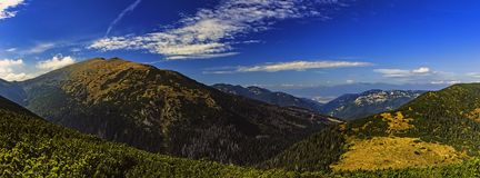 Paysage de montagne de panorama image stock