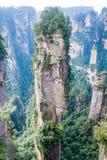 Paysage de montagne de parc national de Zhangjiajie, porcelaine images libres de droits