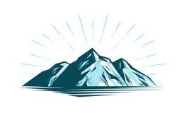 Paysage de montagne, roche Illustration de vecteur de nature illustration stock