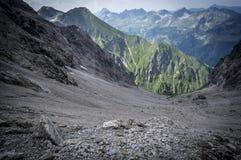 Paysage de montagne rocheuse des Alpes d'Allgau Images libres de droits