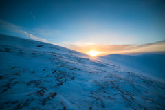 Paysage de montagnes d'hiver Photos libres de droits