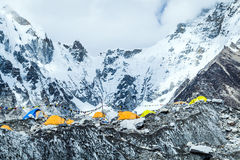 Paysage de montagnes de camp de base d'Everest Photographie stock