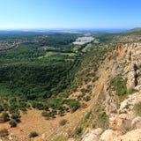 Paysage de montagnes de la Galilée l'israel Images libres de droits