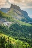 Paysage de montagnes de Pyrénées en été Huesca, Agaron Image stock